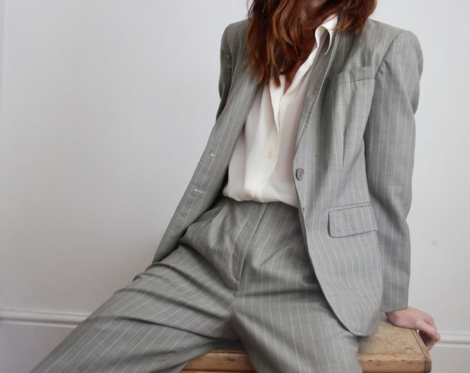 Featured listing image: Ralph Lauren Pinstripe Wool Trouser Suit