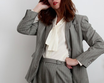 Ralph Lauren Pinstripe Wool Trouser Suit