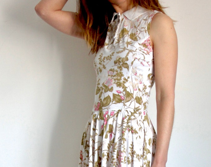 Vintage Floral Marella Sports Luxe Dress UK 8-10