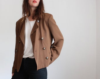 Short Brown Patsy Seddon Blazer Jacket