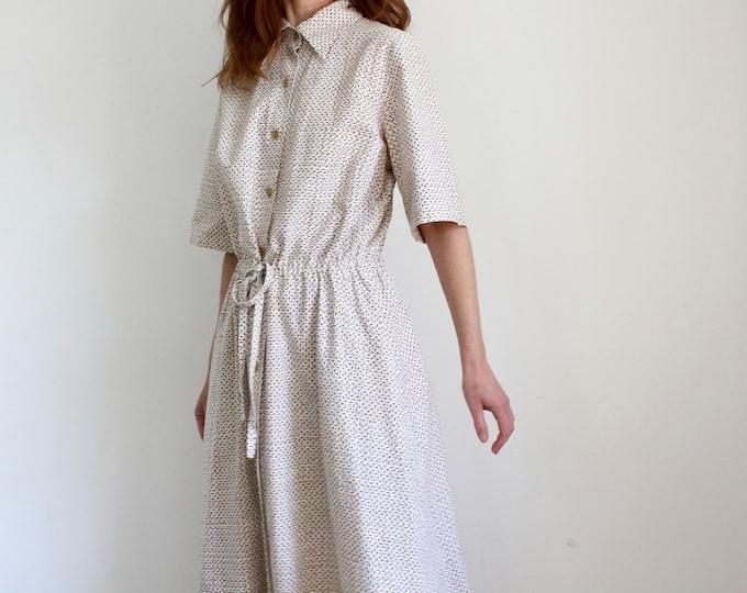 Featured listing image: Marimekko 1978 Printed Shirt Dress.