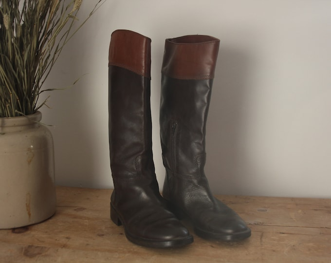 Carvela Knee High Brown Leather Boots