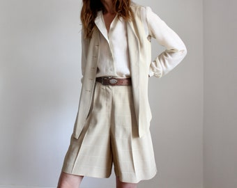 Vintage Betty Barclay 80s/90s Bermuda Shorts and Waistcoat Suit