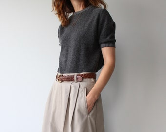 Grey Jaeger Lambswool & Angora Short Sleeve Knit