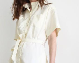 Vintage Cream Shirt Dress