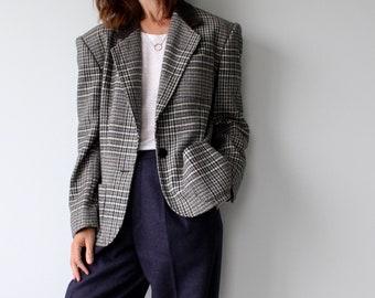 ESCADA By Margaretha Ley Checked Wool Blazer