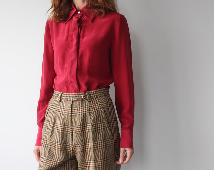 Luisa Spagnoli Silk Red Evening Blouse