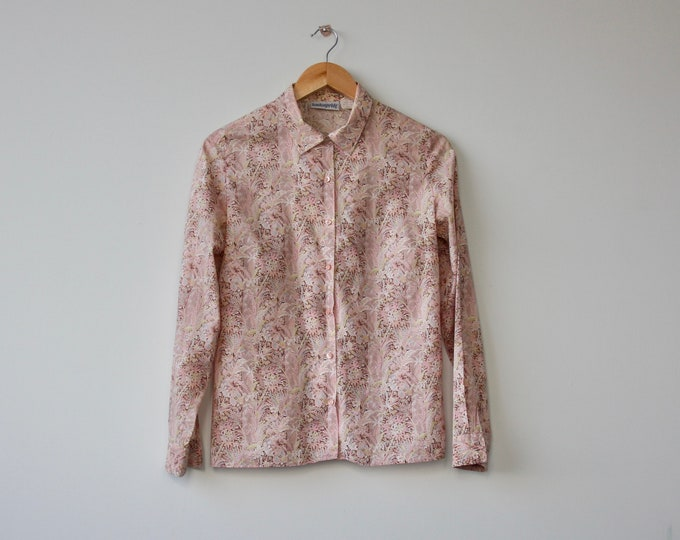 Vintage London Pride Pink Print 1970s Shirt Blouse