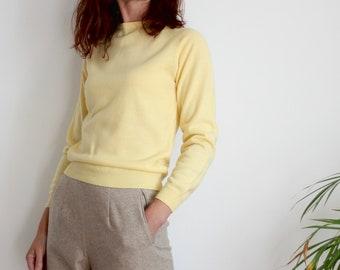 Yellow Crew Neck Sweater