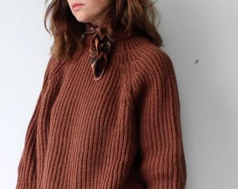 Vintage Brown Silk Jacqmar Neck Scarf