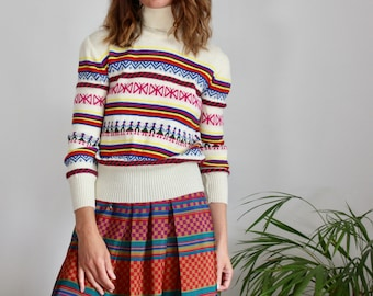 Nordic Style 70's Polo Neck Sweater
