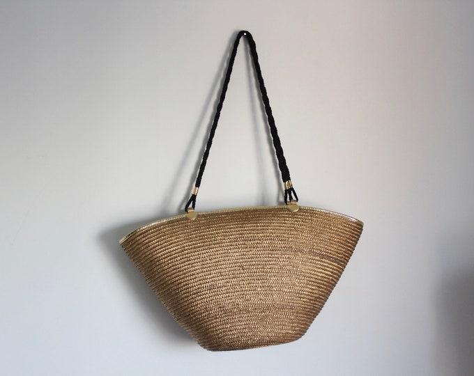 Oversized Summer Straw Shoulder Bag