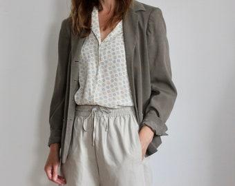 Liz Claiborne Silk Textured Grey Blazer