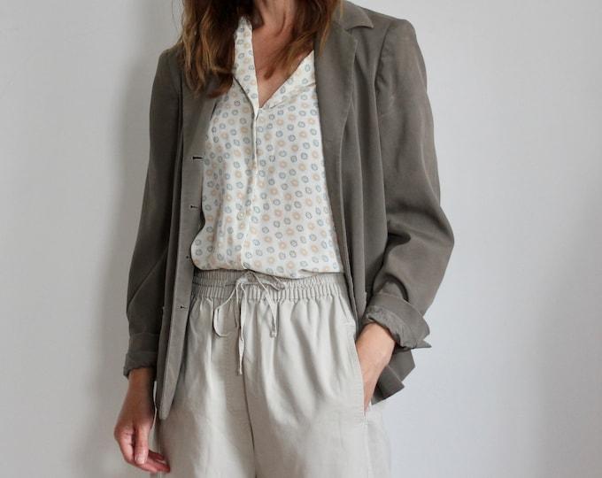Liz Claiborne Silk Grey Blazer Petite