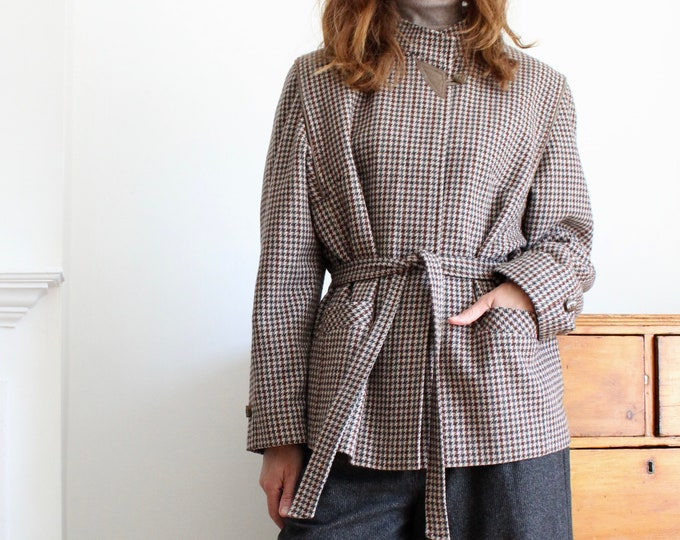 Featured listing image: Tweed Style Tie Belted Short Jacket
