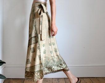 Indian Layered Silk Wrap Skirt