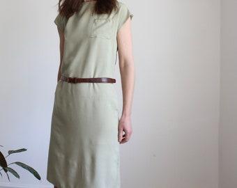 Sage Green 80's Shift Dress