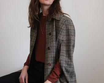 Long Check Reversible 1970's Tweed Sherlock Cape