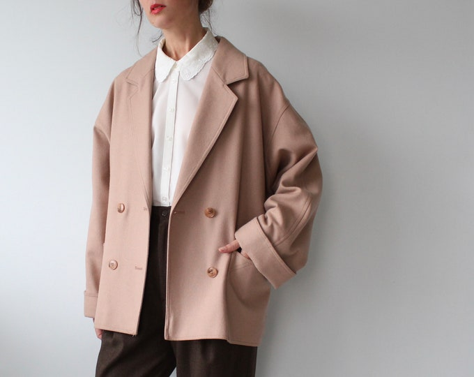 Featured listing image: Vintage Double Breasted Pure New Wool Coat