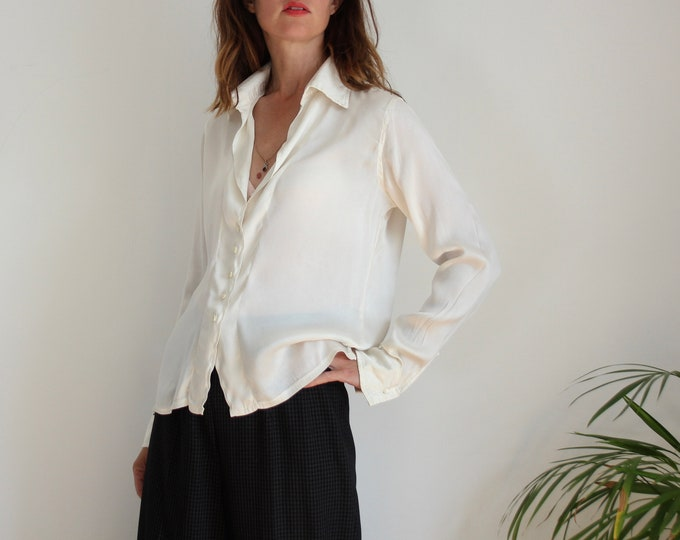 Cream Silk Paola Bellandi Atelier Blouse