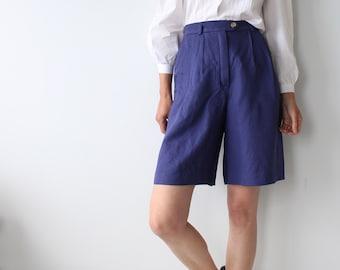 Laurèl Royal Blue Bermuda Shorts