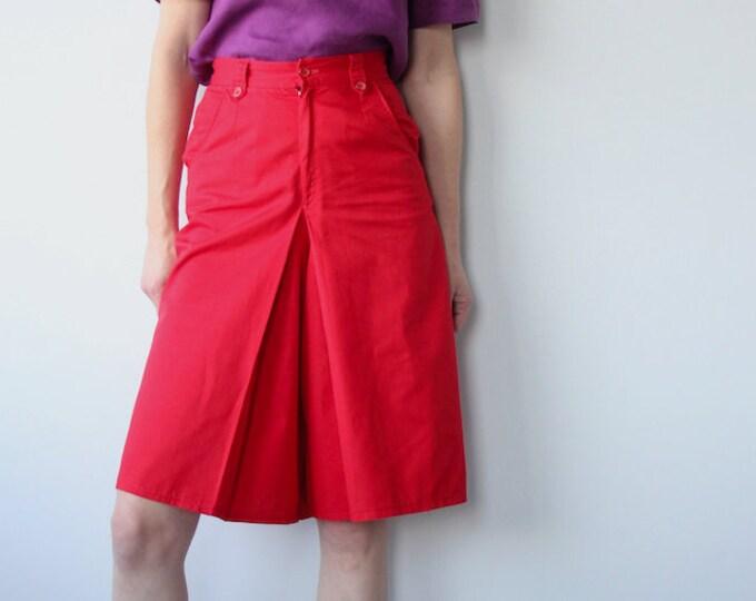 Vintage Red Skort / Culottes