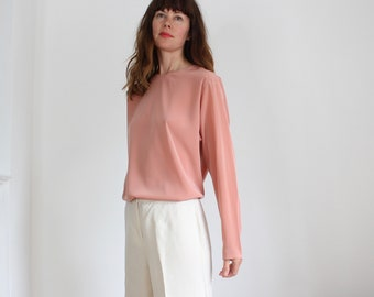 Gaston Jaunet Paris Long Sleeve Rose Top