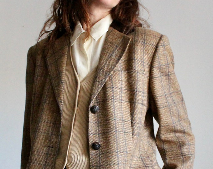 Featured listing image: Aquascutum Tweed Wool Blazer With Velvet Collar