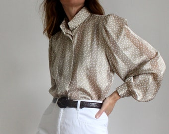Vintage Balloon Sleeve Blouse.