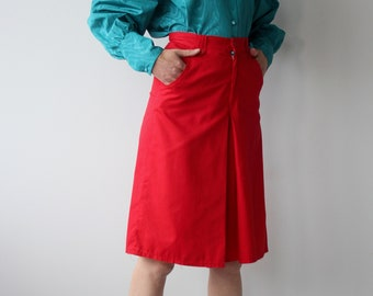 Vintage Red Culottes
