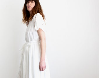 Vintage White Layered Tassel Summer Dress