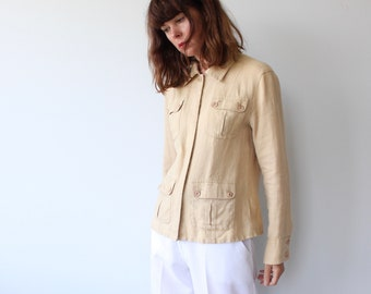 Short Safari Style Linen Jacket / Shirt