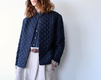 Navy Blue Quilted Vintage Aquascutum Jacket
