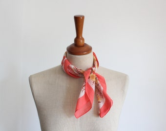 Pretty Coral Pink All Cotton Neckerchief