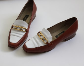 Vintage Bally Two Tone Loafers