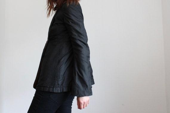 Michiko Koshino Black Silk Jacket XS