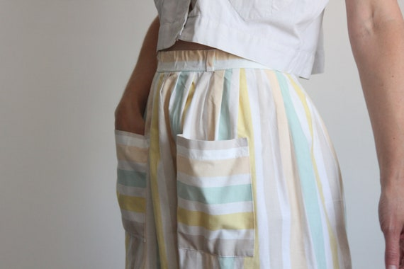 Cotton Candy Multi Stripe Pocket Skirt