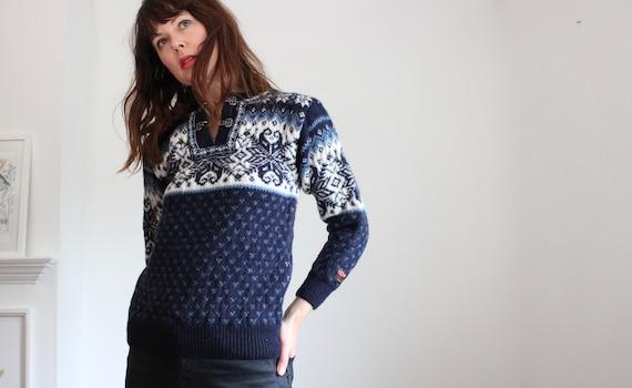 Blue Nordic Wool Jumper XS
