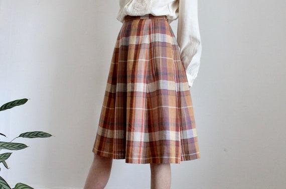 Petite Check 1970's Midi Skirt MAX MARA?