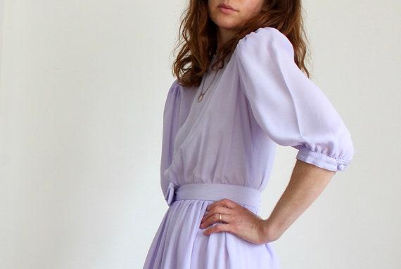 Lilac 1980s Prom Dress
