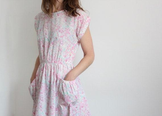 Vintage 80's Print Pocket Dress