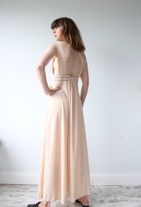 Maxi Nude Slip Dress
