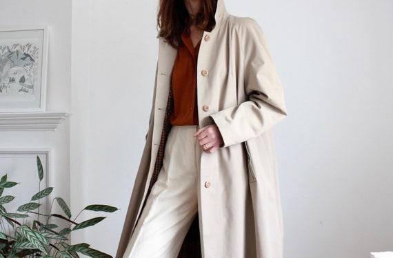 Beige 70s Rain Coat
