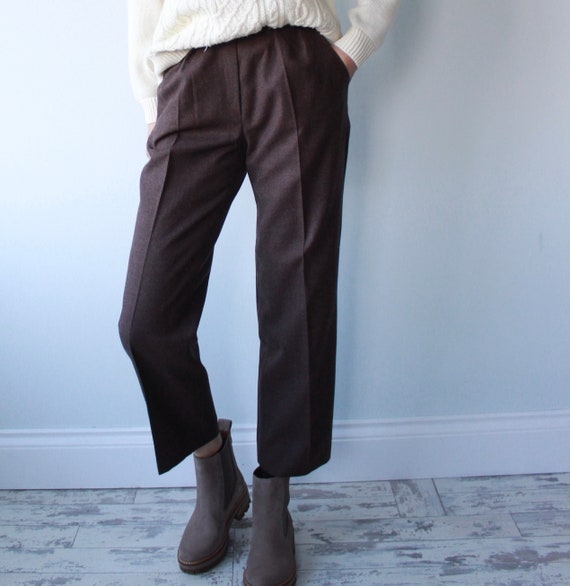 Brown Giorgio Sant Angelo Pure Wool Trousers