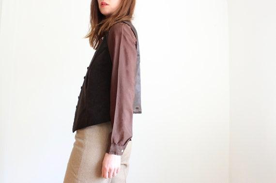 Brown Velvet Waist Coat By Olsen