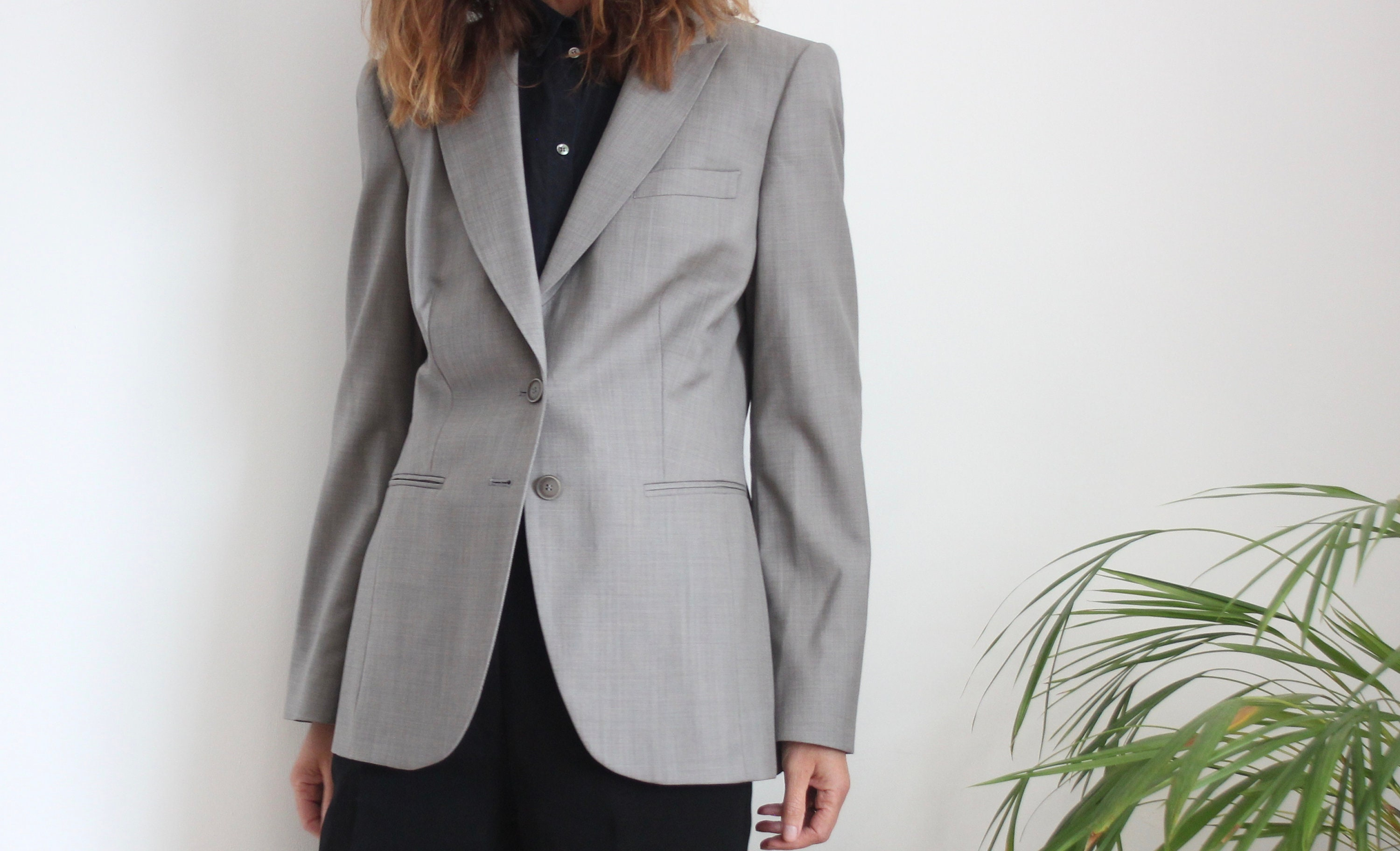 Grey 90s Blazer Jacket By Austin Reed