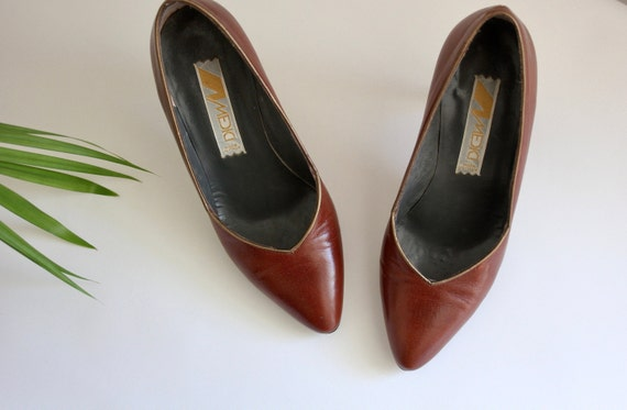 XS Italian Leather Tan Heels