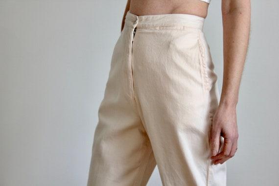Katherine Hamnett Soft Pink High Waist Cotton Capri Pants