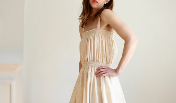 Vintage 70's Sun Dress With Smocking