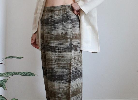 Aquascutum Long Wrapover Camouflage Skirt